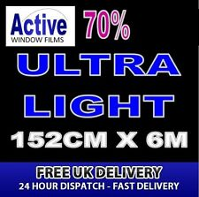 152cm x 6m - 70% Tint Ultra Light Car Window Tint Film Roll - Pro Quality Silver
