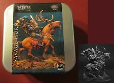 Nocturna HL16 Savage Horn (1) 54mm Miniature Goblin Warrior Lord & Deer Mount