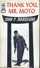 THANK YOU MR MOTO by JOHN P MARQUAND MEDALLION PB 1936 1963