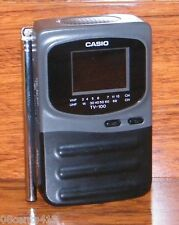 "Genuine Casio (TV-100B) Handheld Portable 2"" LCD Color Standard Television"