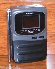 "Genuine Casio (TV-100B) Handheld Portable 2"" LCD Color Standard Television"
