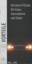 Mercedes E-Klasse Vorteile Lines Innovationen 3/95 Publikation 1995 brochure Pkw