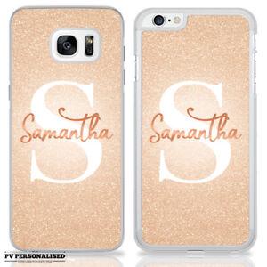 Personalisiert Rotgold Marmor Monogramm Name Eigener Hülle für Samsung & IPHONE