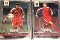 Panini Prizm Euro 2016 David Alaba Mark Arnautovic Austria Football Cards