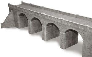 Metcalfe PO241 OO Gauge Stone Double Track Viaduct Card Kit