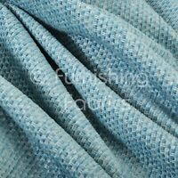 Textured Plain Weave Furnishing Upholstery Drapery Curtain Sofa New Blue Fabric