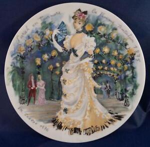 """Vintage D'arceau Limoges Les Femmes Du Siecle Collector Plate """"Sarah"""""""