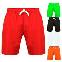 Boys Swimming Shorts Plain Surf Trunks Holiday Summer Mesh Lining Age 3-16 Years