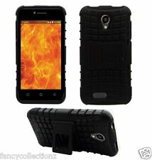 Defender Back Cover Case Reliance Jio Lyf Flame 7 Back Cover Case - Black