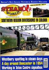 STEAM WORLD 343 JAN 2016 Chorley,Bournemouth,Westbury,Toten,Doncaster,Watford