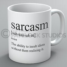 Sarcasm Mug Ability To Insult Sarcastic Humour Rude Funny Grammar Coffee Gift