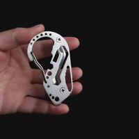 Quickdraw Carabiner Clip KEYCHAIN EDC Outdoor Belt Key Holder Organizer Tool J