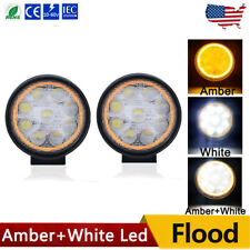 2x 4INCH 54W LED Work Light Bar Round Flood Pods Offroad Fog Lamp 4WD Pickup ATV