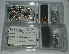 Box of 20 Radiall HDC43/4GTIS coax connector RG179 75 ohm