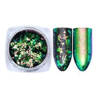 Chameleon Nail Glitter Irregular Flakes Sequins Powder Gold Green Born Pretty