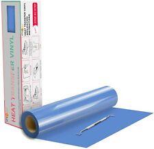 Sky Blue Htv Heat Transfer Vinyl Roll Iron On For T Shirts 12in X 20feet