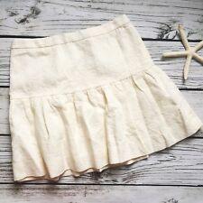 J.CREW Jacquard Flare Skirt Floral Ivory Size 4