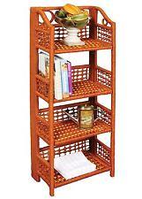WalterDrake 4-Tier Wicker Shelves, brown