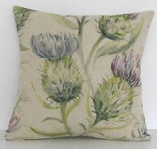"""Voyage Thistle Glen Spring Mauve Purple Flower Linen 16"""" Cushion Cover"""