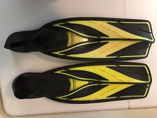 Atomic Aquatics Full Foot Split Fins High Performance 9-10 Yellow Black 42-43