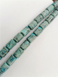 """1 Strand 14x10mm Blue Crazy Lace Agate Cylinder Spacer Loose Beads 15.5"""" BB3456"""