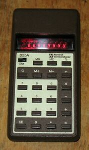 VINTAGE National Semiconductor 835A RED LED Calculator