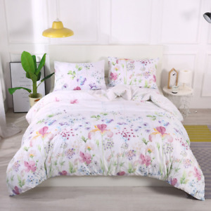 2/3 Pcs Feather Bedding Set Classic Modern Duvet Covers Pillowcase Concise Style