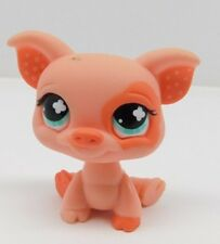 Hasbro Littlest Pet Shop LPS Pink Pig Blue Eyes Polka Dot Ears #662