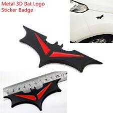 Black & Red Metal 3D Bat Emblem Car Body Fenders Rear Trunk Decal Sticker Badge