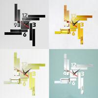 Modern DIY Large Wall Clock 3D Mirror Surface Sticker Home Decor Art Design Gift