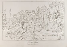 Gravure 1876 : Prise de Madrid. Napoléon Bonaparte. Bataille de Somosierra