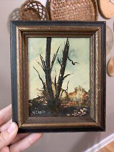 vintage original oil painting signed framed