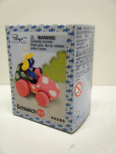 Schleich Smurfs Super Smurf Pink Car Smurfette in sealed box 40265  X0094