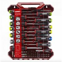 HART 55 Piece Mixed Screwdriver Set Drivers Bits Socket Adapters Carrying Case