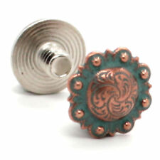 "Chicago Screws Copper Patina Plated 1/4"" 10 Pack 3306-90"