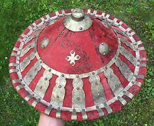 Antique African Ethiopia Abyssinia Tribal Ceremonial Warrior Metal Shield Gashan