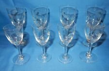 Set of 8 Wheat Straw Head Cut Crystal 4 Liqueurs/Cordials & 4 Aperitifs/Shots