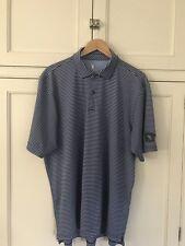 Ireland's Glenmaura National Fairway&Greene Tech Blue Striped Polo Golf Shirt Xl