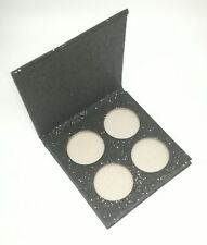 Sparkly Empty Eyeshadow Quad Palette for Pressed Glitter Makeup Organiser