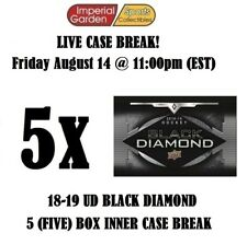18-19 UD BLACK DIAMOND 5 (FIVE) BOX CASE BREAK #1851 - Boston Bruins