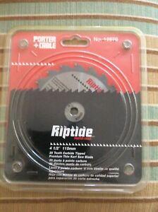 "BNIB Porter Cable Riptide 4-1/2"" 20T Thin Kerf Premium Saw Blade  NEW"