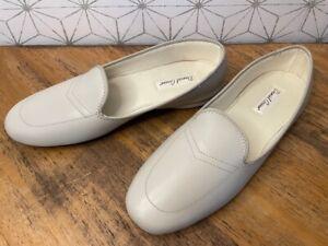 Daniel Green Meg Leather Slip On Loafer Slippers Women's 12 W Bone White 12W