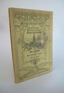1907 Neujahrsblätter der Badischen Historischen Kommission Der Breisgau K3693