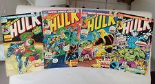 The Incredible Hulk issues #174 176 186 + 191(Marvel,1970s)HULK SMASH!