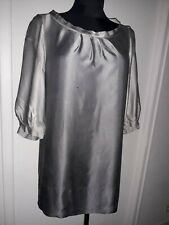GERARD DAREL robe tunique en satin pure soie gris dégradé taille 42