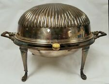 Antique Silverplate Rotating Dome Breakfast Warmer Excellent Condition Complete