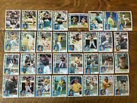 1984 OAKLAND ATHLETICS Topps COMPLETE Baseball Team Set 32 Cards HENDERSON LOPES