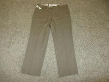 Nwt New Izod Straight Flat Front Dress Pants Golf Slacks 36 x 29 Beige Tan Tags