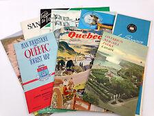 Vintage Lot 1950's Travel Brochures Canada Ontario's Niagara Quebec Maps