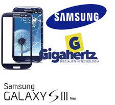 VETRO VETRINO SAMSUNG GALAXY S3  - S3 NEO I9300 I9305 BLU NO TOUCH SCHERMO LCD